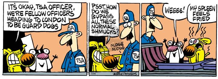 Comic Strip Mike Peters  Mother Goose and Grimm 2012-07-31 guard dog