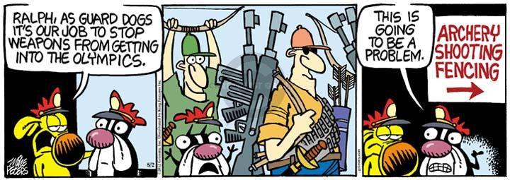Comic Strip Mike Peters  Mother Goose and Grimm 2012-08-02 gun