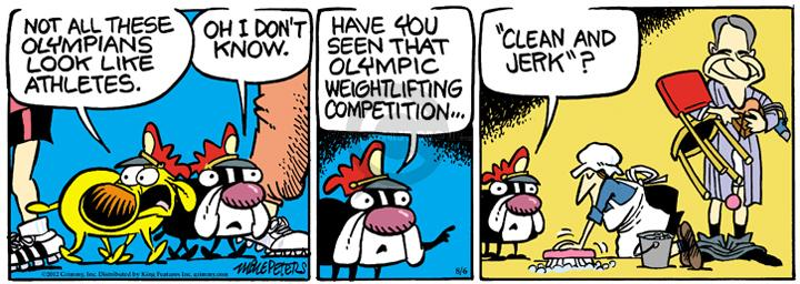 Comic Strip Mike Peters  Mother Goose and Grimm 2012-08-06 summer Olympics