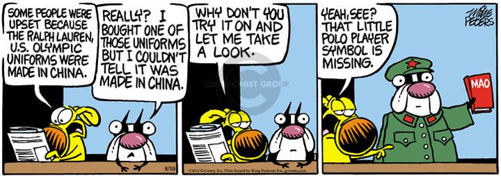 Comic Strip Mike Peters  Mother Goose and Grimm 2012-08-10 manufacture