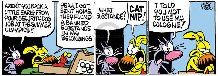 Comic Strip Mike Peters  Mother Goose and Grimm 2012-08-11 dog and cat
