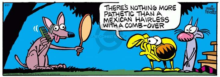 Comic Strip Mike Peters  Mother Goose and Grimm 2012-08-13 vanity