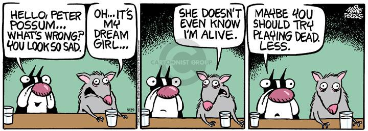 Comic Strip Mike Peters  Mother Goose and Grimm 2012-08-29 maybe