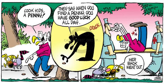 Cartoonist Mike Peters  Mother Goose and Grimm 2012-09-02 penny