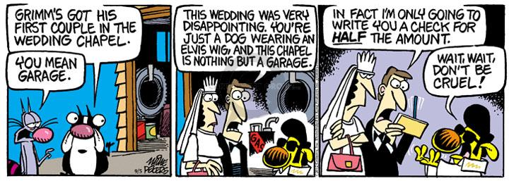 Comic Strip Mike Peters  Mother Goose and Grimm 2012-09-05 first marriage