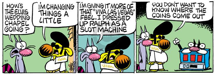 Comic Strip Mike Peters  Mother Goose and Grimm 2012-09-07 machine