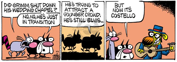 Comic Strip Mike Peters  Mother Goose and Grimm 2012-09-08 identity