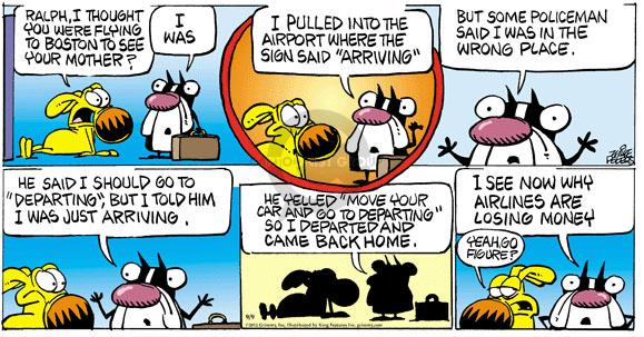 Comic Strip Mike Peters  Mother Goose and Grimm 2012-09-09 communication