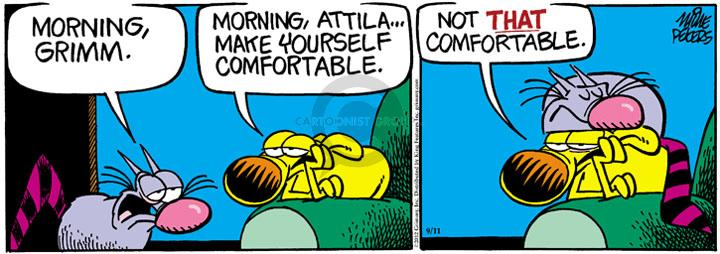Comic Strip Mike Peters  Mother Goose and Grimm 2012-09-11 comfortable