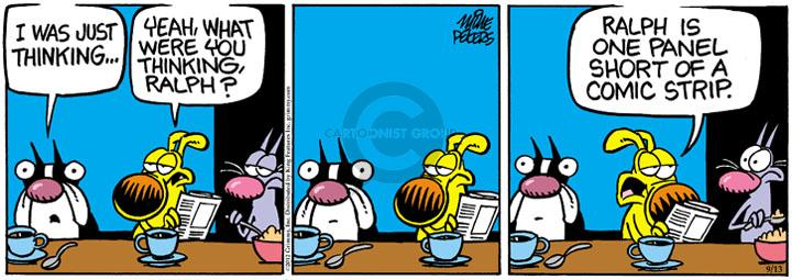 Comic Strip Mike Peters  Mother Goose and Grimm 2012-09-13 gag