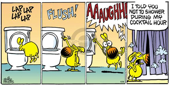 Comic Strip Mike Peters  Mother Goose and Grimm 2012-09-30 flush the toilet