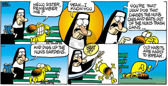 Cartoonist Mike Peters  Mother Goose and Grimm 2012-10-14 dig