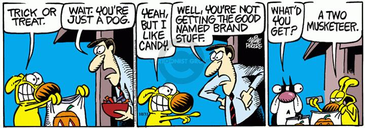 Comic Strip Mike Peters  Mother Goose and Grimm 2012-10-31 candy