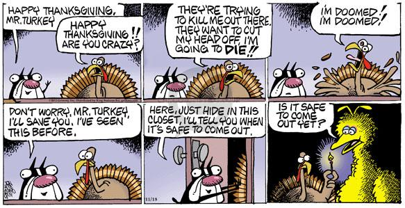 Cartoonist Mike Peters  Mother Goose and Grimm 2012-11-18 Thanksgiving
