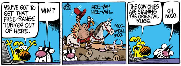 Comic Strip Mike Peters  Mother Goose and Grimm 2012-11-21 rug