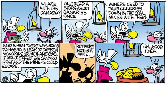 Cartoonist Mike Peters  Mother Goose and Grimm 2012-11-25 story