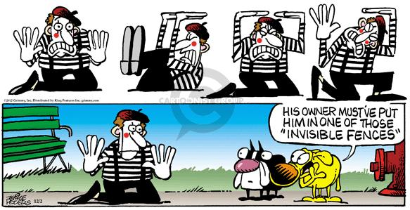 Comic Strip Mike Peters  Mother Goose and Grimm 2012-12-02 mime