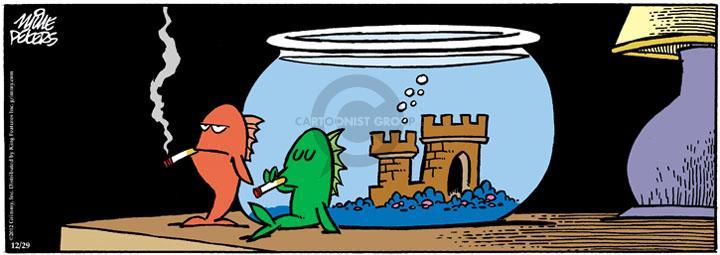 Comic Strip Mike Peters  Mother Goose and Grimm 2012-12-29 aquarium