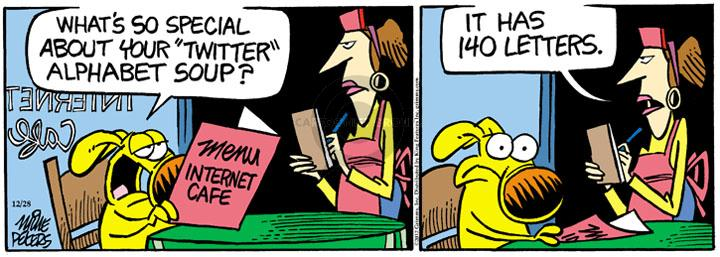 Cartoonist Mike Peters  Mother Goose and Grimm 2012-12-28 letter