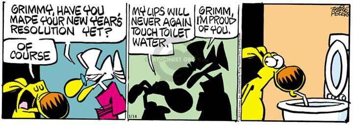 Comic Strip Mike Peters  Mother Goose and Grimm 2013-01-14 New Year