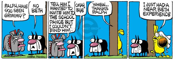Cartoonist Mike Peters  Mother Goose and Grimm 2013-01-18 deception
