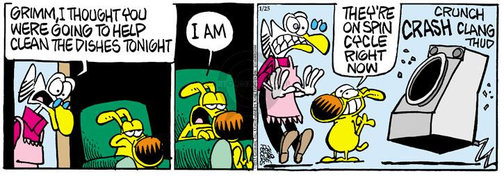Comic Strip Mike Peters  Mother Goose and Grimm 2013-01-25 crunch