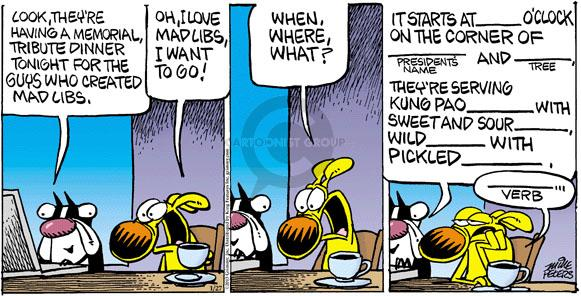 Cartoonist Mike Peters  Mother Goose and Grimm 2013-01-27 president