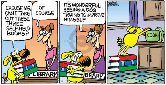 Comic Strip Mike Peters  Mother Goose and Grimm 2013-02-03 assistance dog
