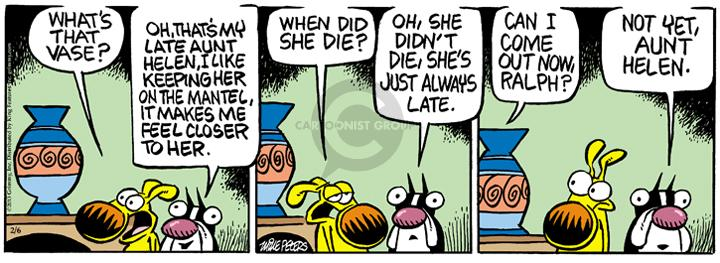 Comic Strip Mike Peters  Mother Goose and Grimm 2013-02-06 late