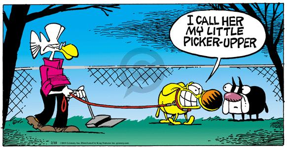 Comic Strip Mike Peters  Mother Goose and Grimm 2013-02-10 pooper