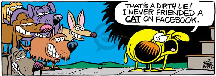 Comic Strip Mike Peters  Mother Goose and Grimm 2013-02-11 dog and cat