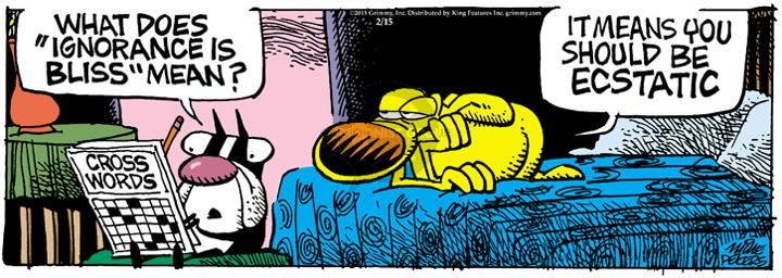 Comic Strip Mike Peters  Mother Goose and Grimm 2013-02-15 unintelligent