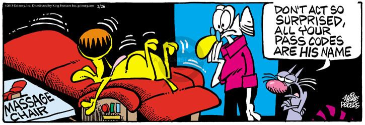 Comic Strip Mike Peters  Mother Goose and Grimm 2013-02-26 act