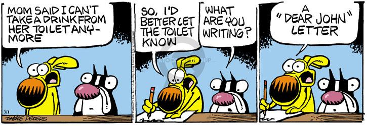 Comic Strip Mike Peters  Mother Goose and Grimm 2013-03-01 writing