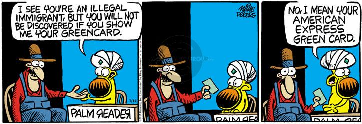 Comic Strip Mike Peters  Mother Goose and Grimm 2013-03-14 teller