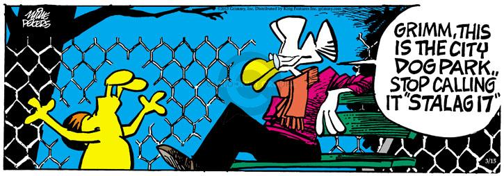 Comic Strip Mike Peters  Mother Goose and Grimm 2013-03-15 dog fence
