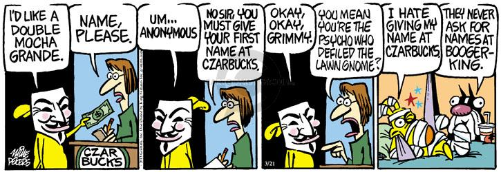 Cartoonist Mike Peters  Mother Goose and Grimm 2013-03-21 privacy
