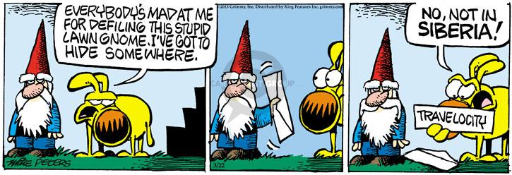 Cartoonist Mike Peters  Mother Goose and Grimm 2013-03-22 lawn