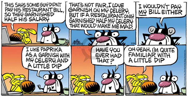 Comic Strip Mike Peters  Mother Goose and Grimm 2013-03-24 yeah