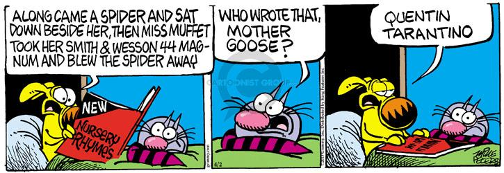 Comic Strip Mike Peters  Mother Goose and Grimm 2013-04-02 movie violence