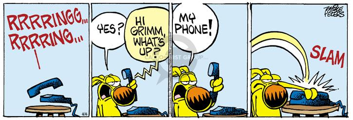 Comic Strip Mike Peters  Mother Goose and Grimm 2013-04-06 telephone