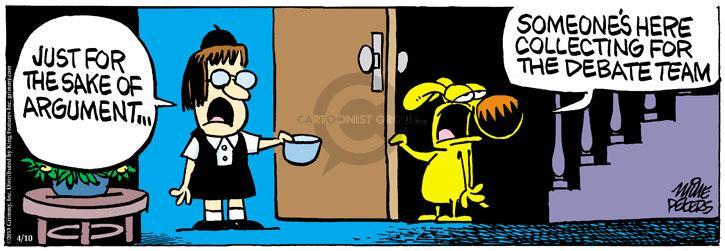 Comic Strip Mike Peters  Mother Goose and Grimm 2013-04-10 debate