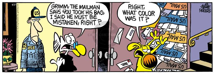 Cartoonist Mike Peters  Mother Goose and Grimm 2013-04-27 letter
