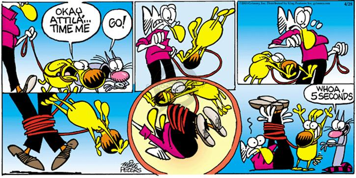 Comic Strip Mike Peters  Mother Goose and Grimm 2013-04-28 whoa