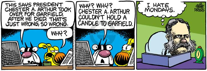 Comic Strip Mike Peters  Mother Goose and Grimm 2013-05-13 Garfield