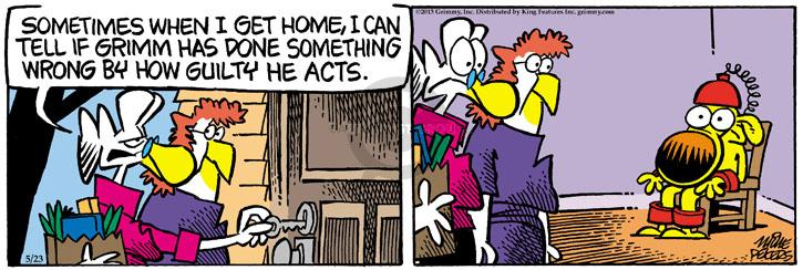 Comic Strip Mike Peters  Mother Goose and Grimm 2013-05-23 act