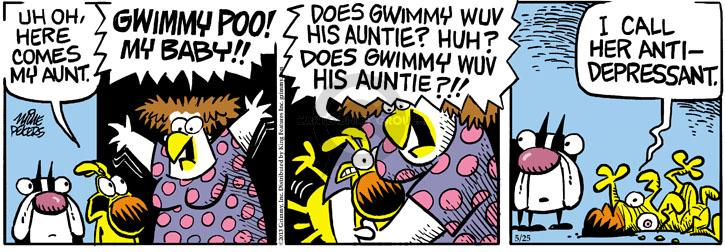 Comic Strip Mike Peters  Mother Goose and Grimm 2013-05-25 hug