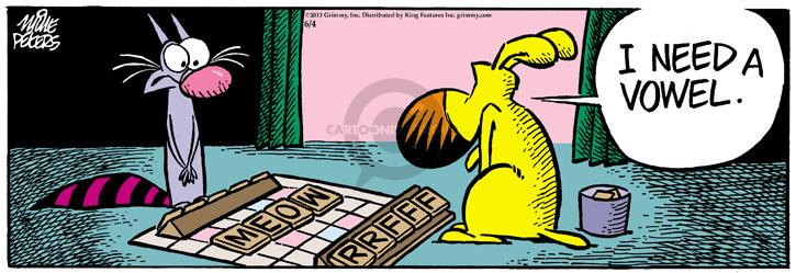 Comic Strip Mike Peters  Mother Goose and Grimm 2013-06-04 dog and cat