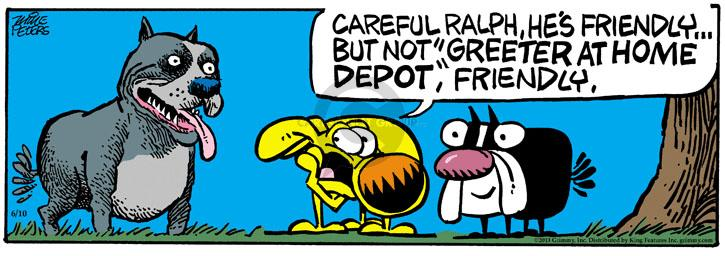 Comic Strip Mike Peters  Mother Goose and Grimm 2013-06-10 greet