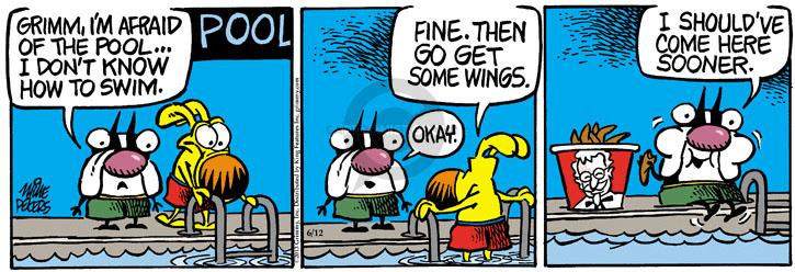 Comic Strip Mike Peters  Mother Goose and Grimm 2013-06-12 fast food